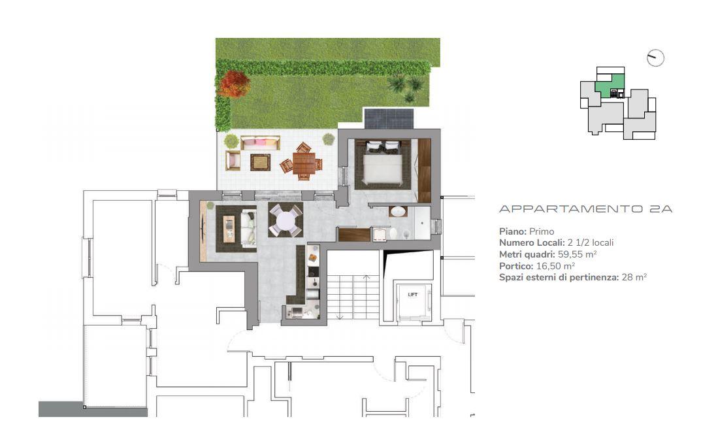 Appartamento 2A di 2.5 locali