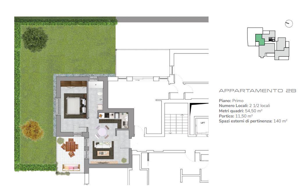 Appartamento 2B di 2.5 locali