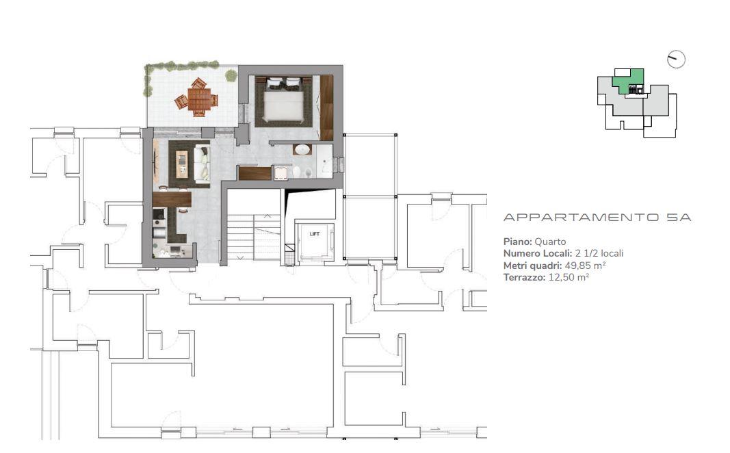 Appartamento 5A di 2.5 locali