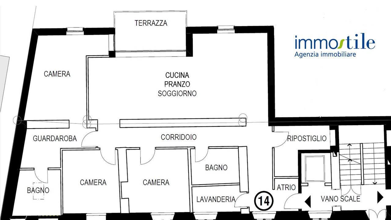 Planimetria appartamento 14