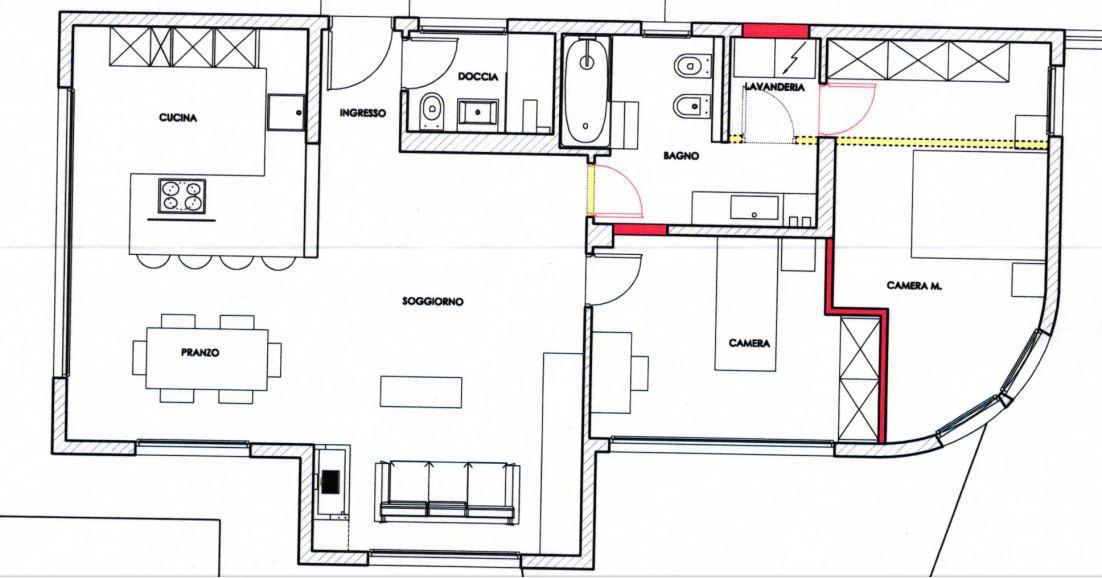 Modifica abitazione con aggiunta di una camera