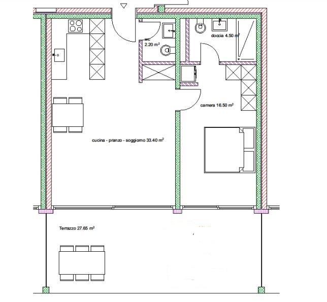 Appartamenti 2.5 locali nr. 11, 15, 19, 23
