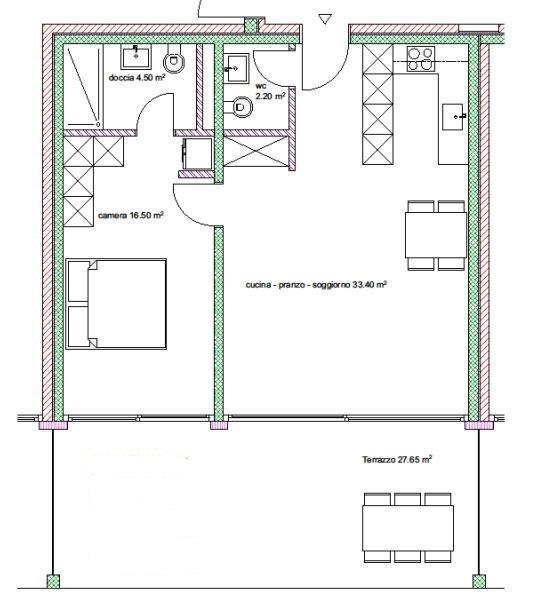 Appartamenti 2.5 locali nr. 10, 14, 18, 26